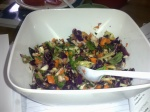 Asian coleslaw with Thai cashew dressing
